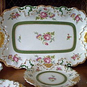 Spectacular L S & S Limoges Shell-Motifs Ice Cream /Dessert Set  Ca 1900
