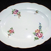 Beautiful Ronard or Rouard Porcelain Sevres Style De Paris French Platter with Roses Hand-Pain