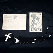 Mother Teresa  Letter From Calcutta, India  1980s 3 Signatures of Mother Teresa