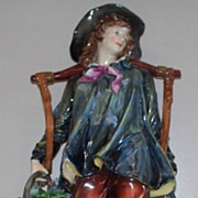 "Antique Capodimonte Italian Neapolitan Fisherman   12"" Tall"