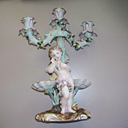 Meissen  Dresden  Candelabra  with Boy & Girl  Figurine 1882-1902
