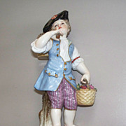 Meissen Boy with Baskets 19th century Figurine