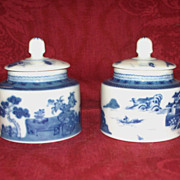 Two Mottahedeh Canton Mustard Pots  Vista Alegre Portugal   Perfect