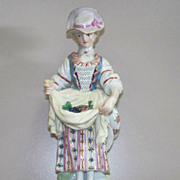 Meissen  Girl  Gathering  Grapes  19th century