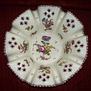 Beautiful Antique Lille French Faience Center-Bowl H.P. roses & tulips c.1767