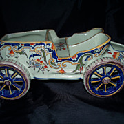 Antique French Faience Fortaintraux Freres Touring Automobile 1892
