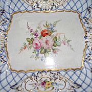 Antique Sevres Tray  with Rococo Designs Roses