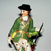 18th century Derby Hunter Figurine with Dog