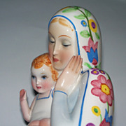 "Beautiful Ronzan Lenci Style Madonna & Child  14"" Perfect"