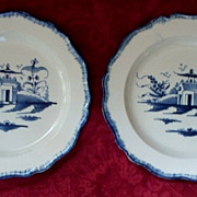 18th Century  Pair  English  Delft Plates