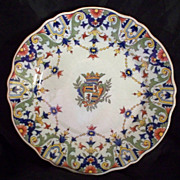 "French ""Rouen"" Faience Plate      circa 1890's"