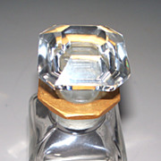 "Baccarat Perfume Bottle  4.5""  Signed"