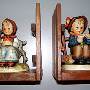 Pair; Vintage Hummel Book-Ends &quot;Good Friends&quot; & &quot;She Loves Me, She Loves Me Not