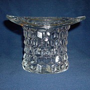 REDUCED Fostoria American Vintage Glass Topper (Top Hat) 4.25""