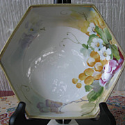 Hand Painted Nippon Hexagon, Pedestal Dish