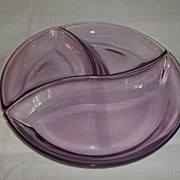 REDUCED Vintage Villeroy & Boch Glass 3-Piece Relish Sectional Dish