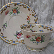 Syracuse Lady Louise Footed Cup and Saucer