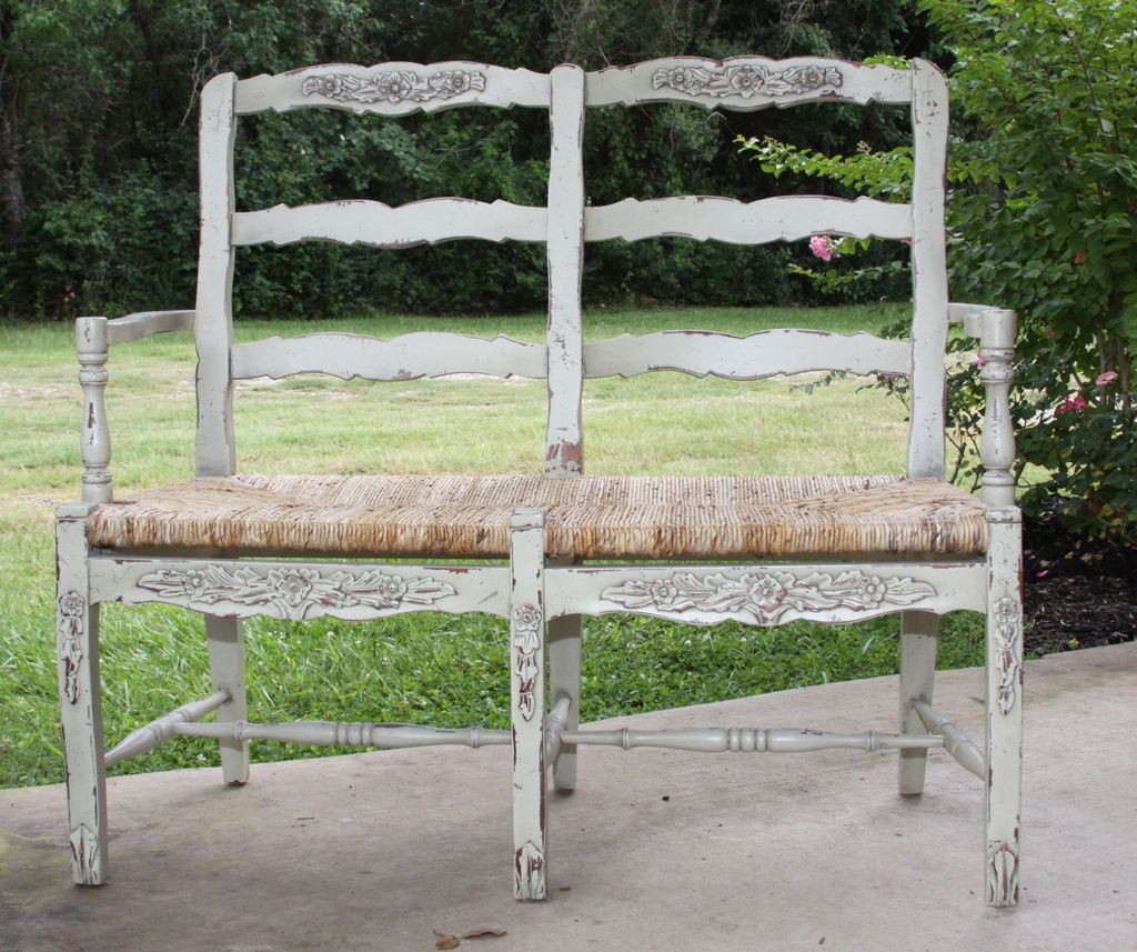 French country garden bench -  Inspirational French Country Outdoor Furniture