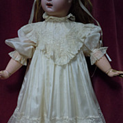 SOLD Exquisite antique pure silk Dress for french Bebe Jumeau Steiner doll