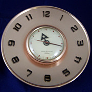 Retro Copper Colored General Electric Telechron Wall Clock