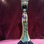 "Gouda  Pottery Candle Stick, 11.5""  Unusual Style"