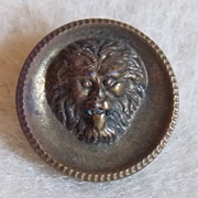 Tiny ANTIQUE LION Old Estate Button