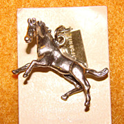 Awesome Vintage Bell Trading Post Sterling HORSE Charm