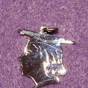 Wonderful Vintage Sterling Silver GRADUATION GIRL Charm