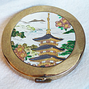 Gorgeous PAGODA Vintage Estate Unused Powder Compact