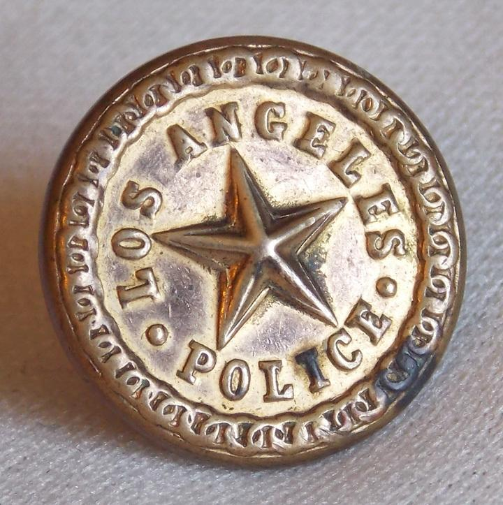 Antique police los angeles signed estate button from for Antique shops in los angeles