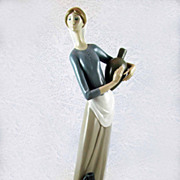 Lladro Retired 'Girl with Jugs' Figurine - Rare Double Stamp