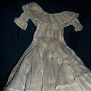 Sheer White Summer Dress for china or bisque Dolls Free P&I US BUYERS