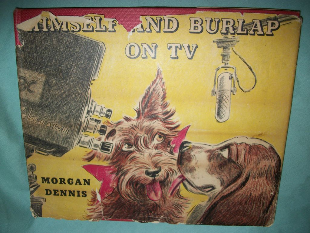 1954 Morgan Dennis Dogs Scottie Terrier signed  Illus Dog Book Himself & Burlap on TV