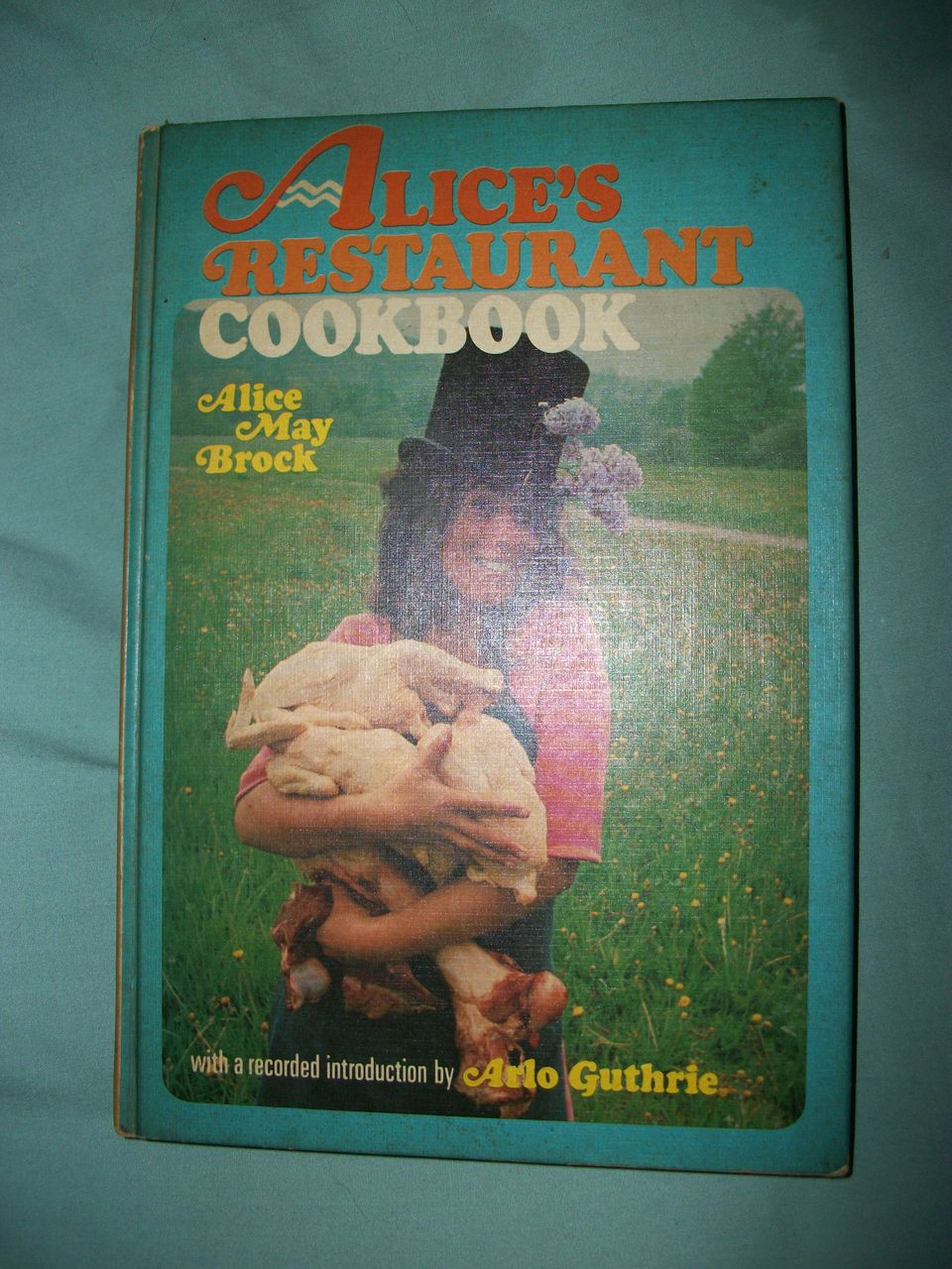 1969 Alice's Restaurant Cookbook Arlo Guthrie Intro Free P&I US Buyers