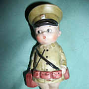 4.5&quot; Medic Soldier Possible Nippon All Bisque Kewpie Type Foot Damage Free P&I US Buyers