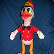 "24"" Amazing Lenci Type Felt Cloth Donald  Duck in Marching Outfit  Free P&I US Buyers"
