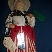 10&quot; Signed Ravca  Cloth Doll Paris Free P&I US Buyers
