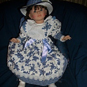 "Artist signed 1991 Corolle 24"" Made in France Beautiful Doll Free P&I US Buyers"