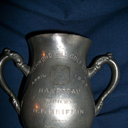 1903 Pewter Golf Trophy N F Griffin  Richmond Hills Golf Club by John Frick Free P&I US Buyers