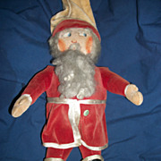 Vintage 17&quot; Velvet Cloth Santa Doll Hartford Conn Free P&I US Buyers