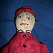 OOAK  12&quot; Primitive Sock Boy Doll Free P&I US Buyers