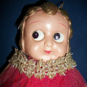 "Large 12"" Celluloid Carnival Type Doll free P&I US Buyers"