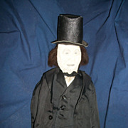 "17"" Abe Lincoln Vintage Cloth Doll Free P&I US Buyers"