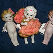 "6.5"" All Bisque German & Japan Dolls Free P&I US Buyers"