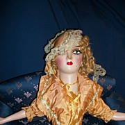 1938 Boudoir Doll w/Lashes Provenance Free P&I US Buyers