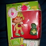 1980 81 Strawberry Shortcake Apple Dumplin Doll In Box Free P&I Us Kenner