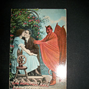 The Devil Must  Have Prompted You Theochrom Series Devil 1308 Postcard