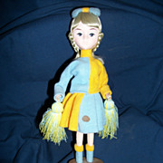 "10"" Bradley Cheerleader Doll with Tag Free P&I US buyers"