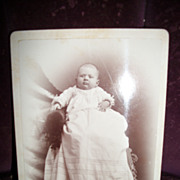 Vintage Baby in Christening Gown Free P&I US buyers