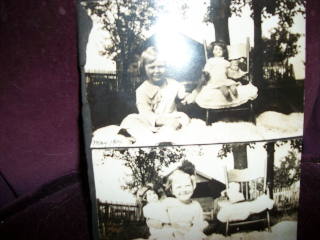 Vintage Photos Little Girl and her dolls Free postage and insurance US Buyers